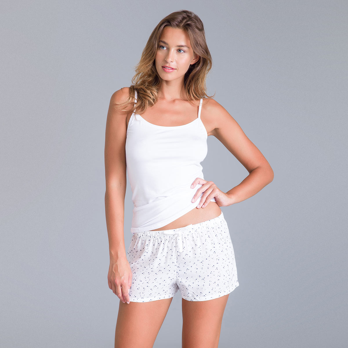Short de nuit rose nacre Soft & Cool