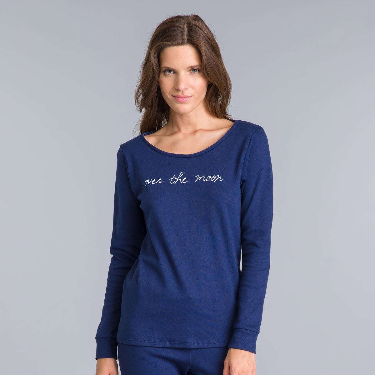Tee-shirt manches longues bleu matelot Essential