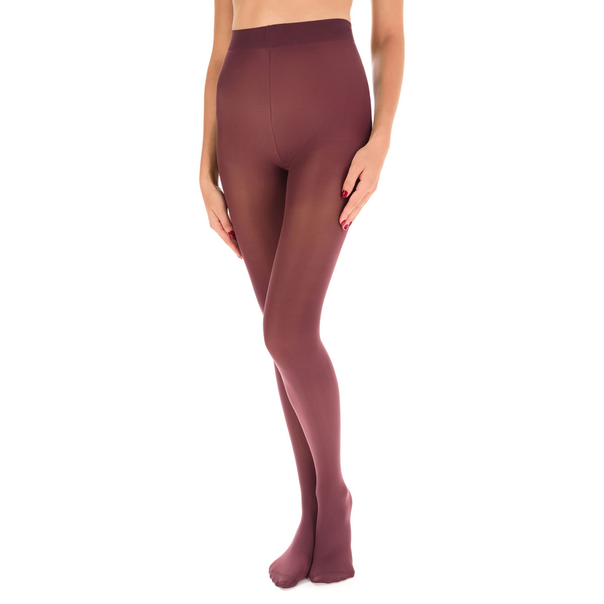 Collant marron chaud opaque velouté Style 50D