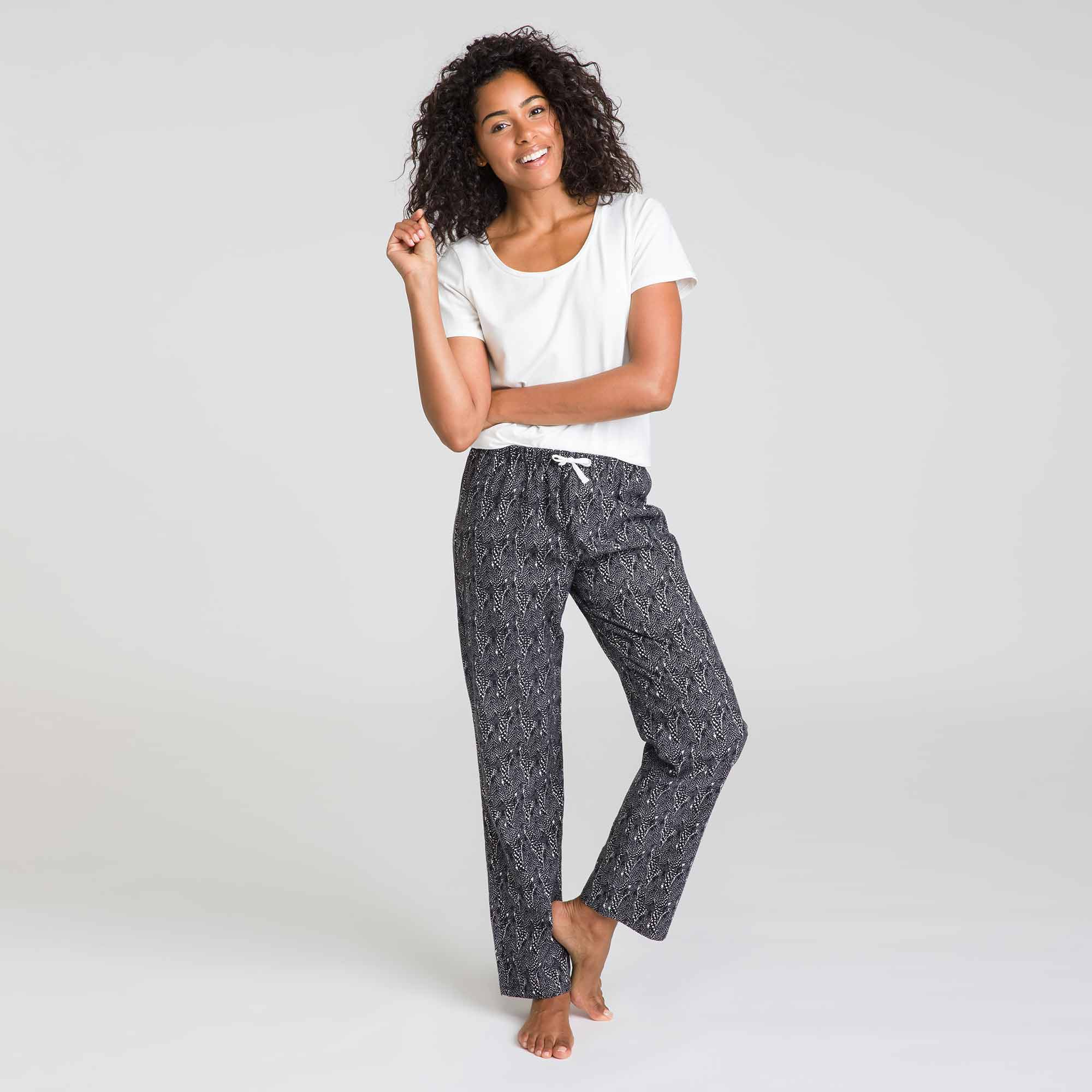 Pantalon de pyjama noir Soft & Cool