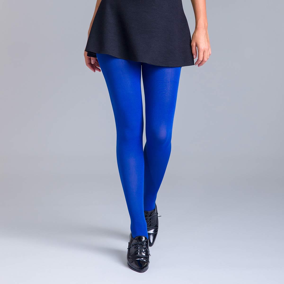 Collant ultra opaque bleu neptune 80D Style