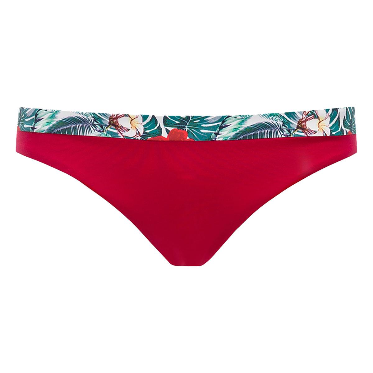 bas de maillot de bain rouge et imprim tropical femme. Black Bedroom Furniture Sets. Home Design Ideas