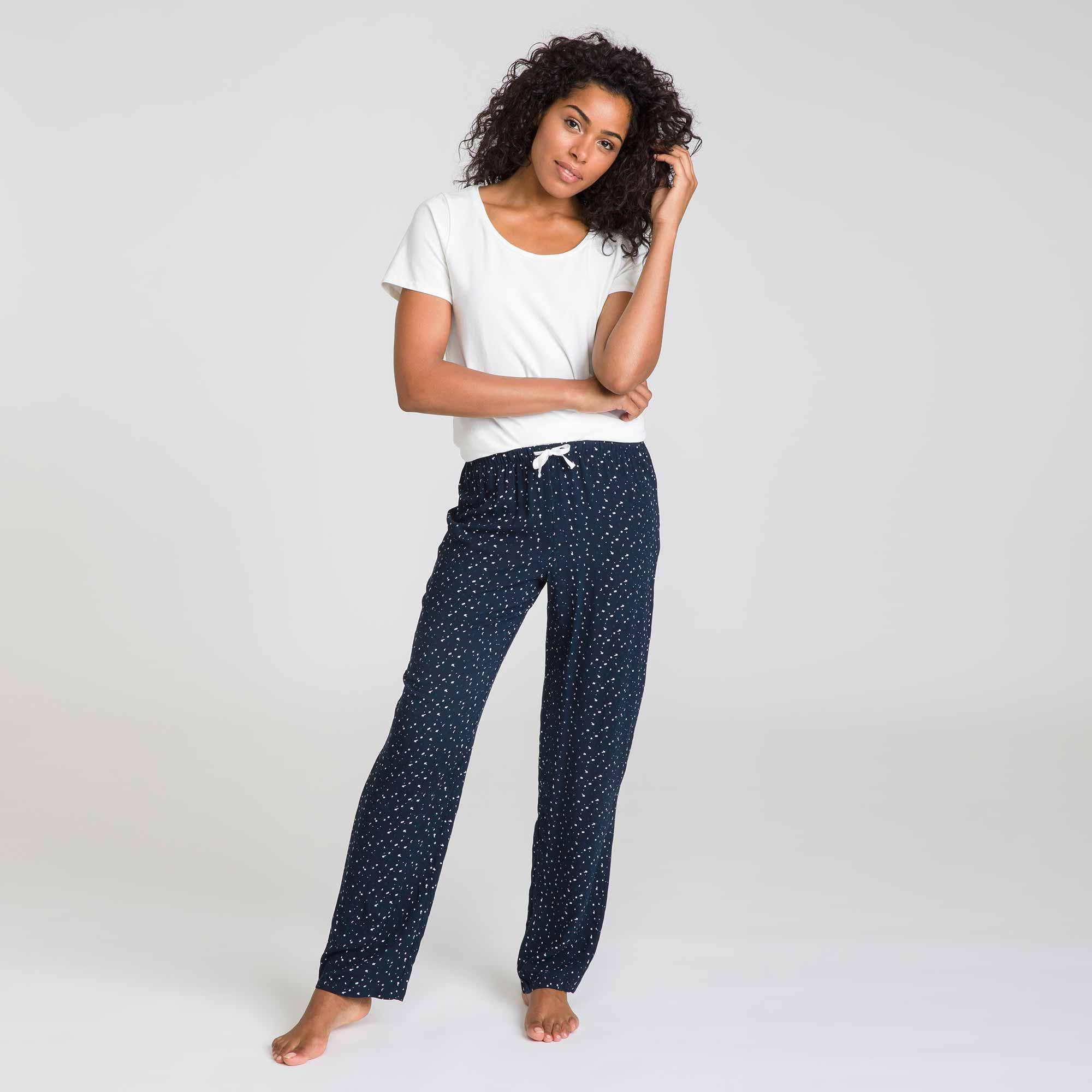 Pantalon de nuit noir Soft & Cool