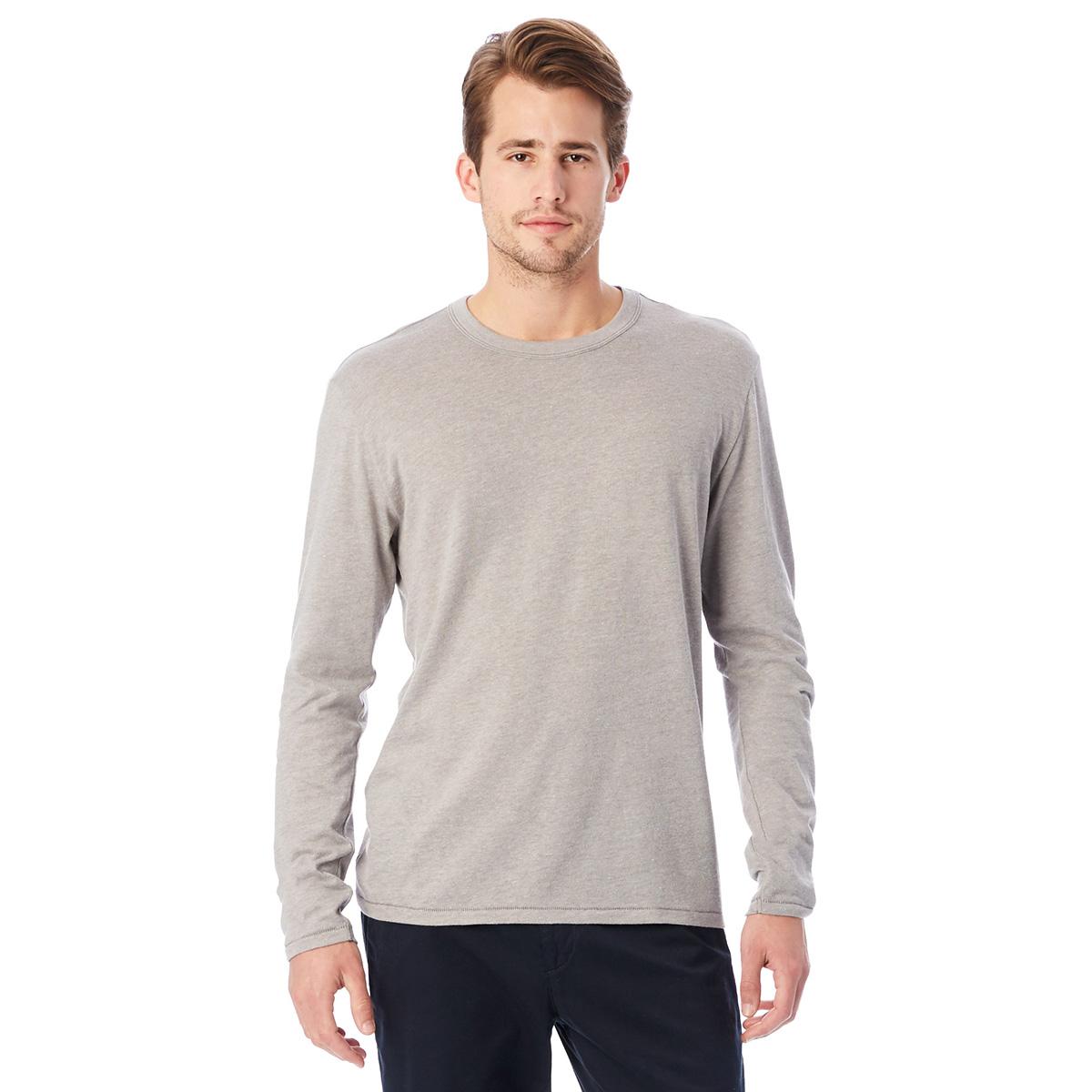 T-shirt gris clair à manches longues Homme