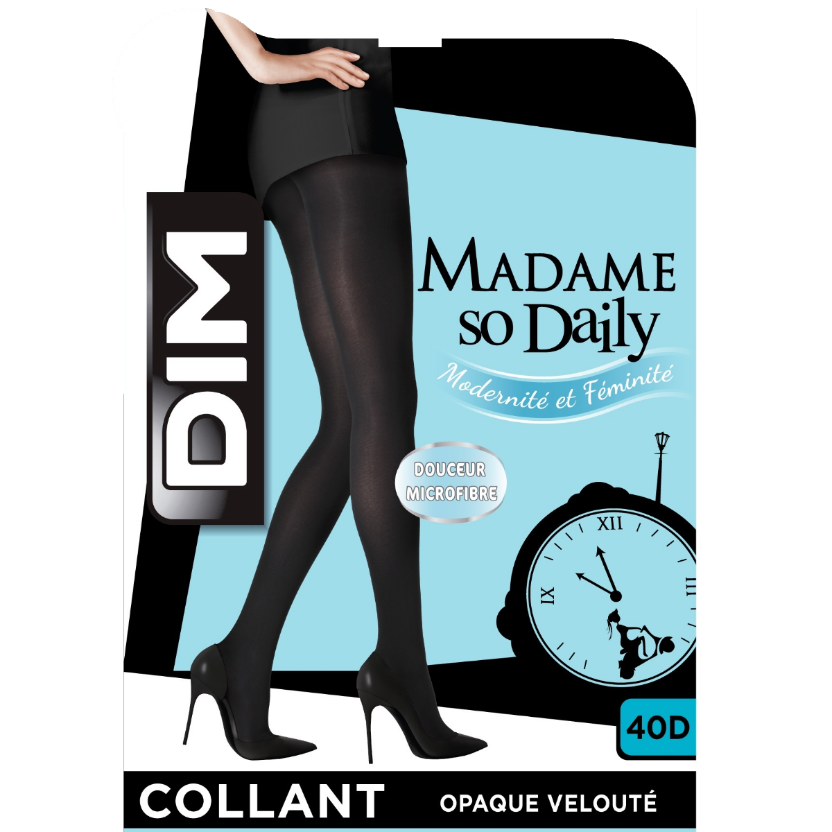 Collant pourpre violacé opaque velouté Madame So Daily 40D a1524e50b0e