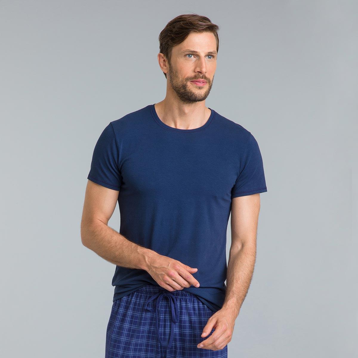 Tee-shirt de pyjama à manches courtes bleu éclat