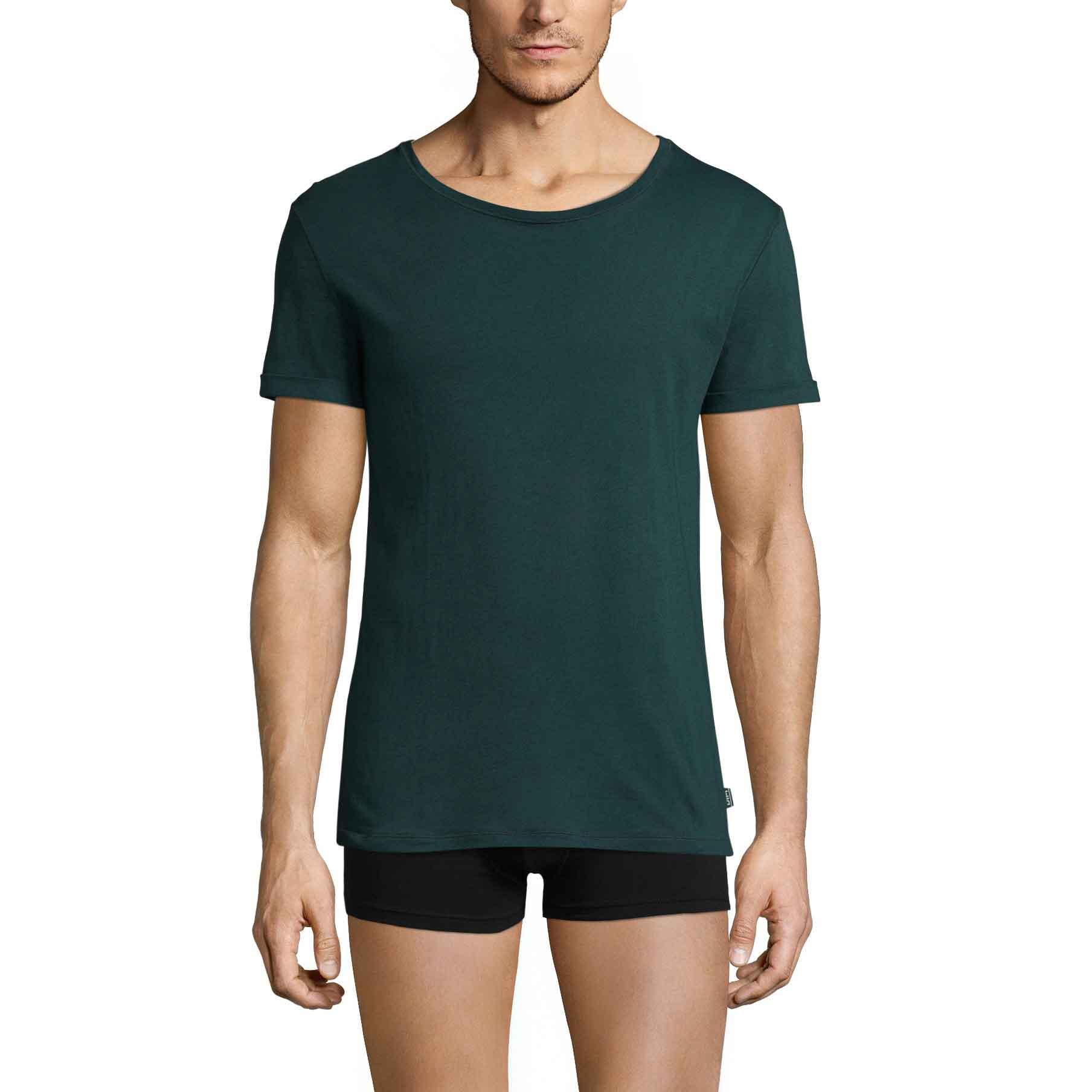 Tee-shirt à manches courtes vert ardoise Mix & Match