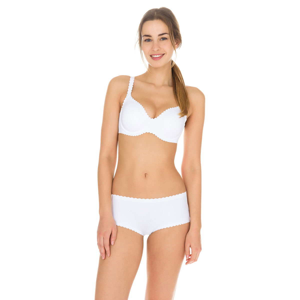 Boxer blanc Body Touch seconde peau Femme