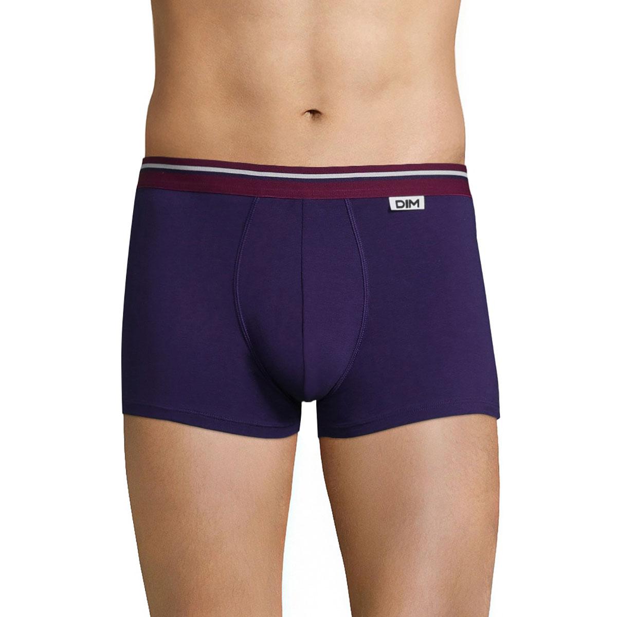 Boxer violet auburn ceinture lie de vin DIM Colors