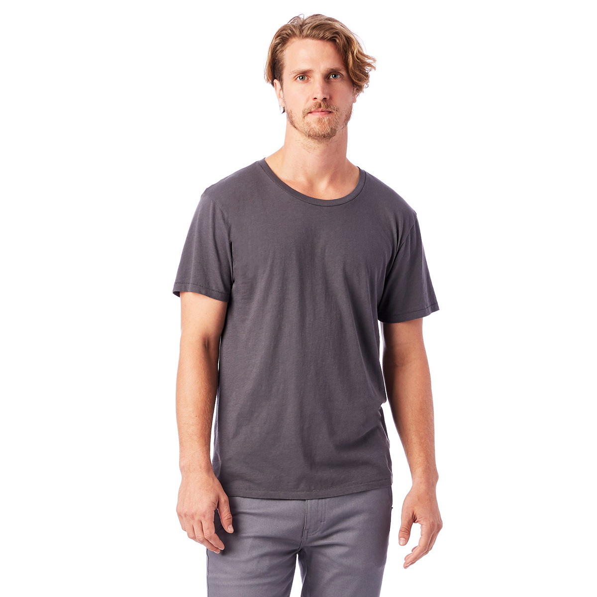 T-shirt 100% coton bio manches courtes gris charbon Homme