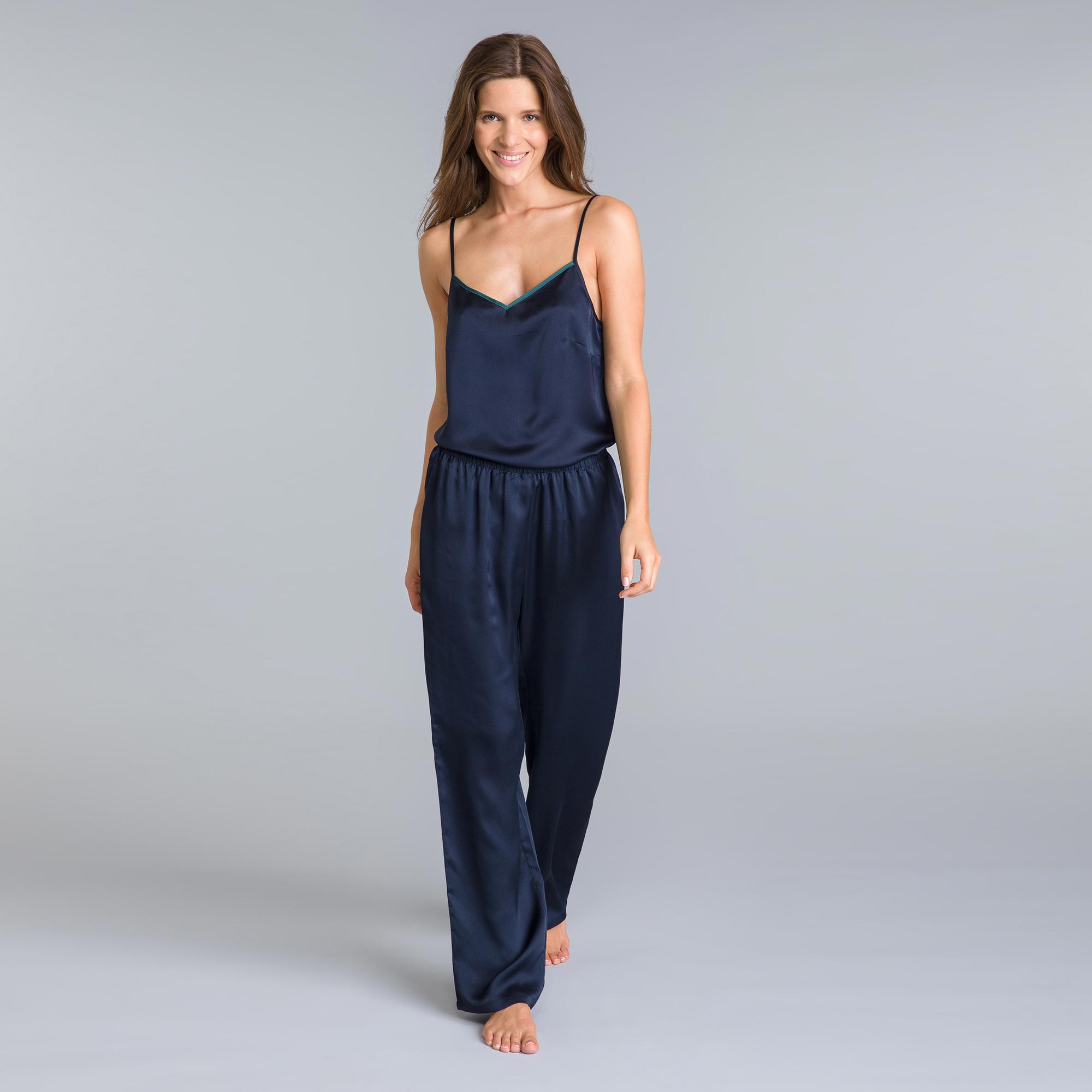 Pantalon de pyjama bleu marine Winter Dream