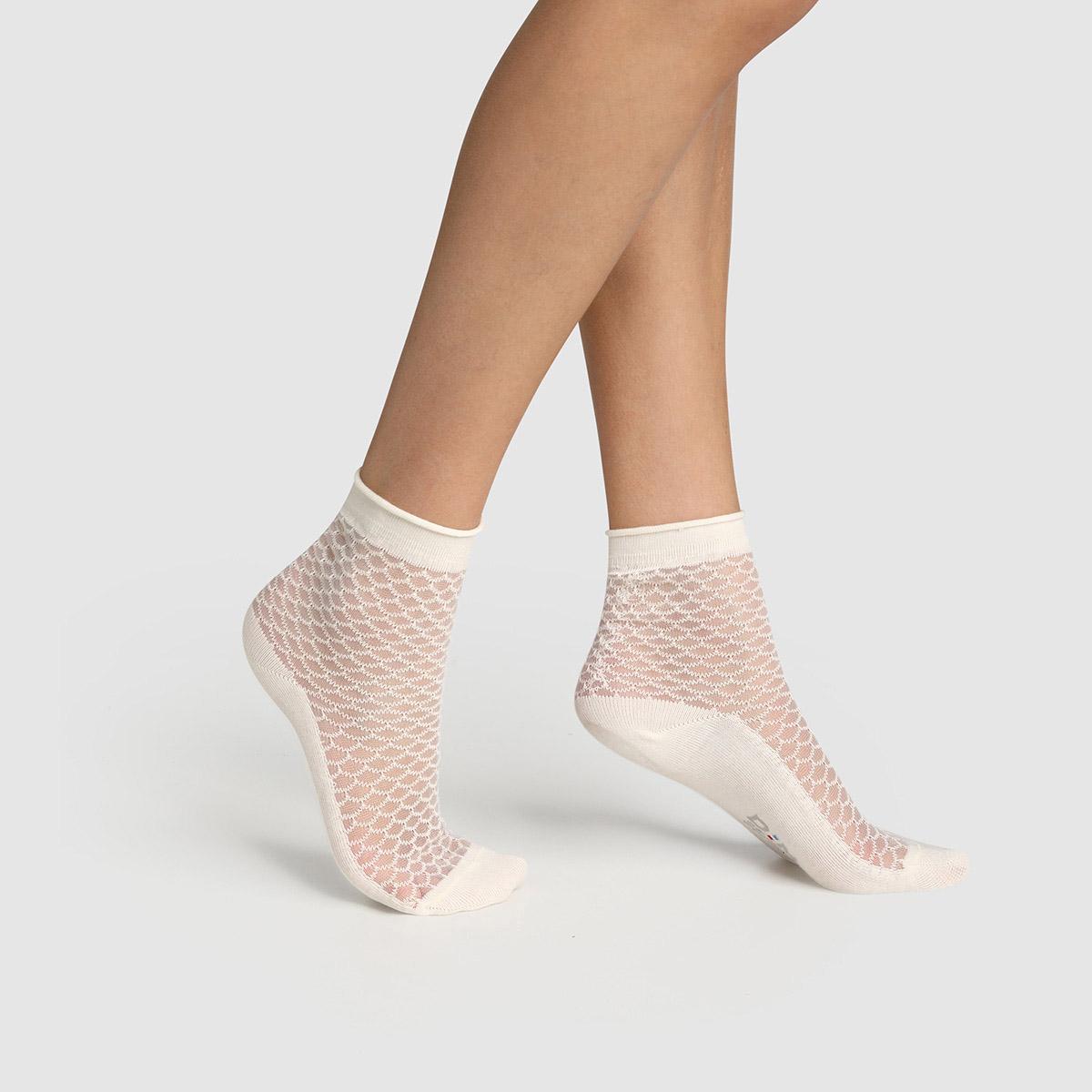 Socquette coton motif écaille transparent Made in France - DIM - Modalova