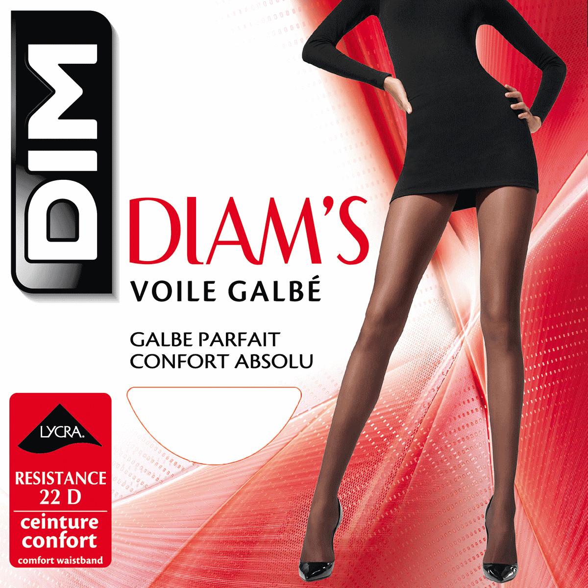 Collant noir Diam s Voile Galbé 22D b628f094f04