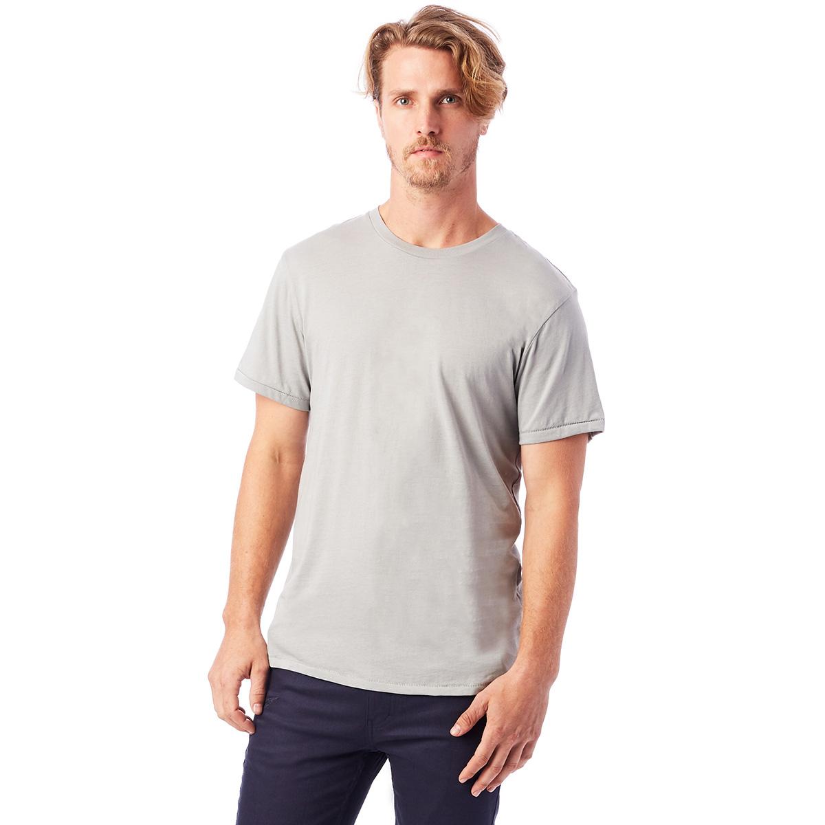 T-shirt 100% coton bio manches courtes gris clair Homme