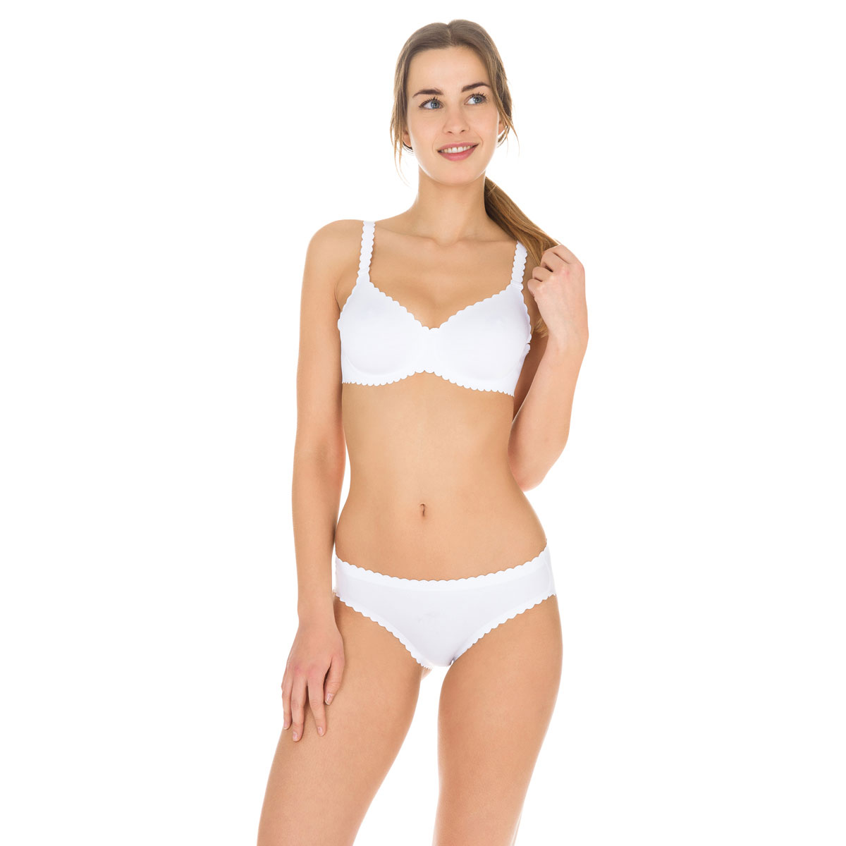 Slip blanc Body Touch seconde peau Femme