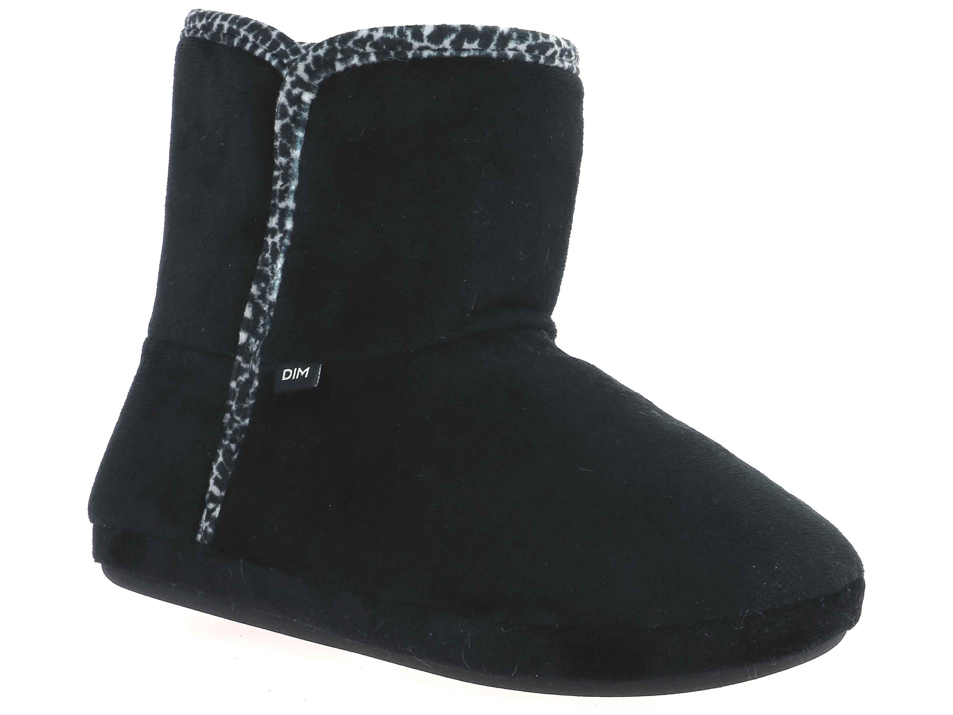 Chaussons montants noirs Femme