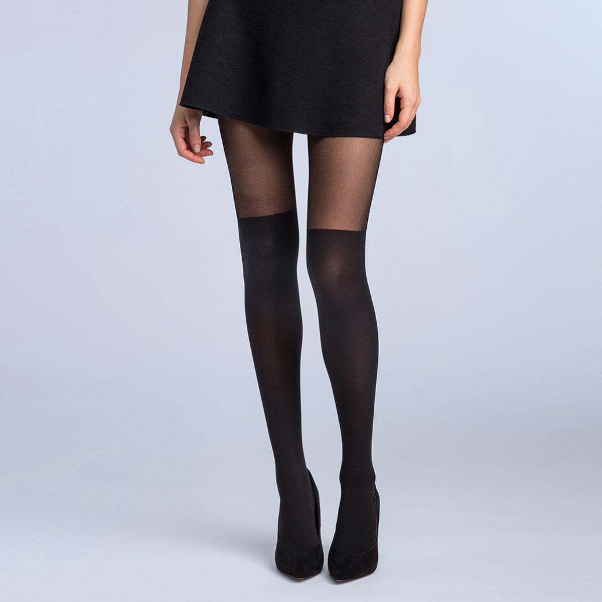 Collant cuissarde noir Style