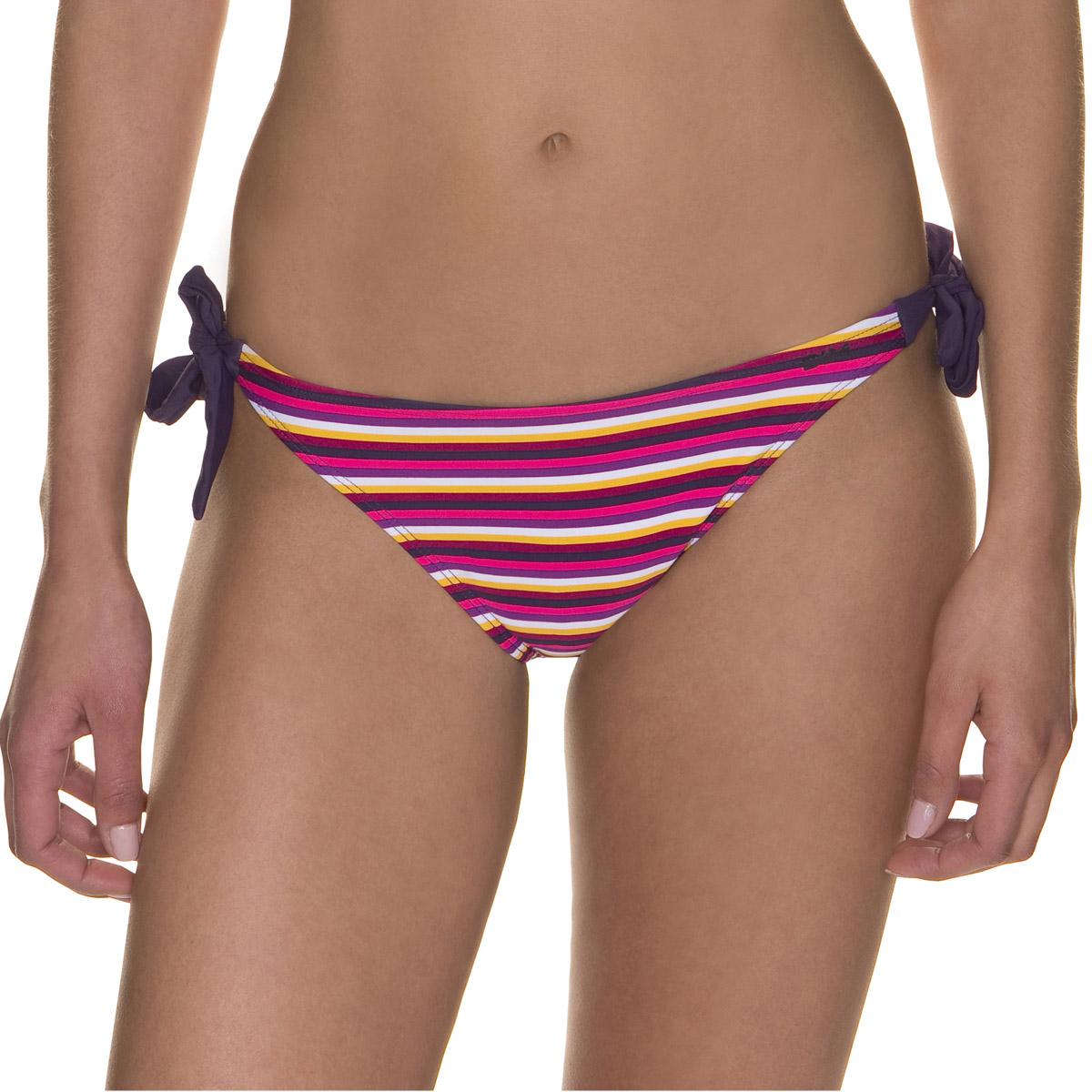 Bas de maillot de bain berlingot violet et jaune