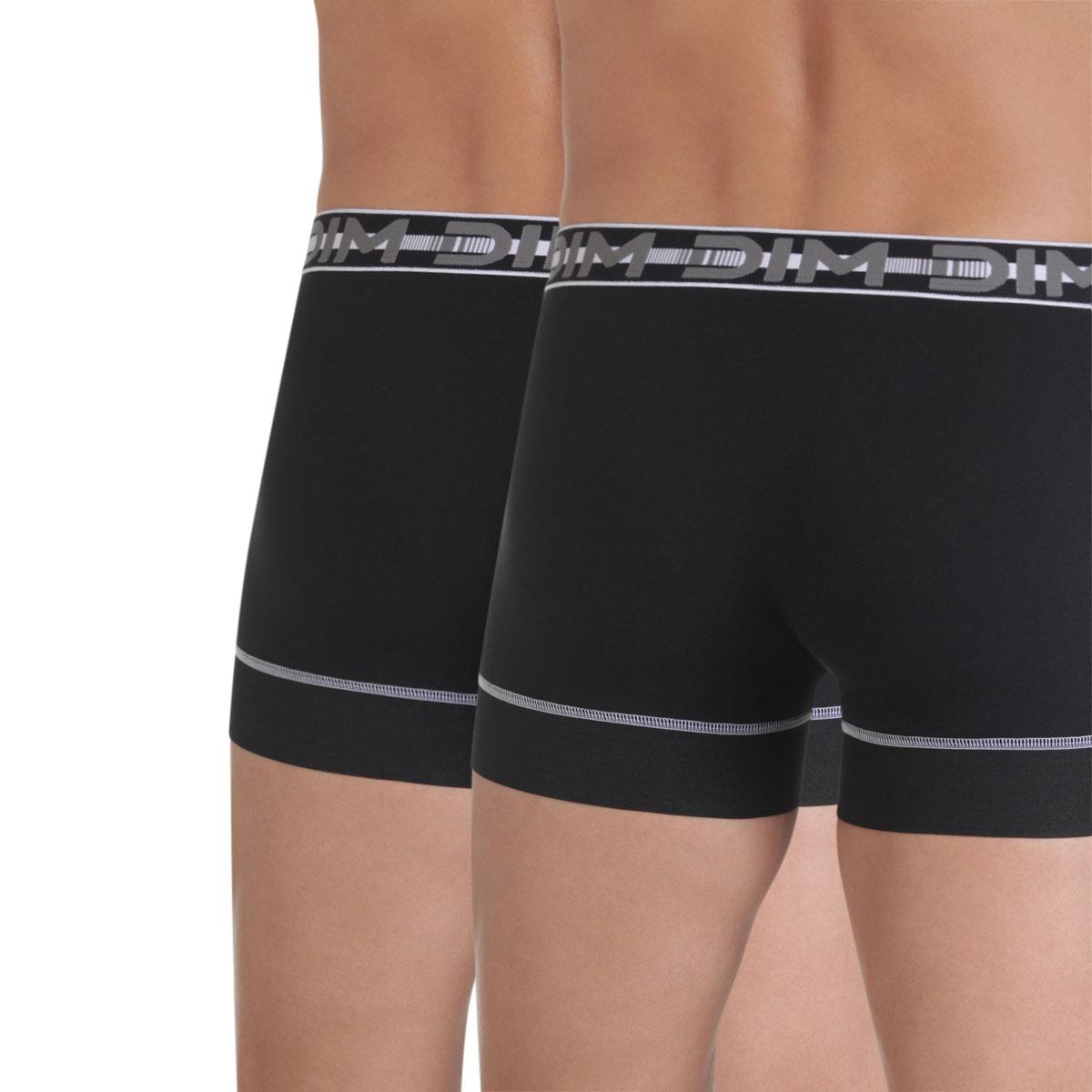 Lot de 2 boxers noirs 3D Stay & Fit-DIM