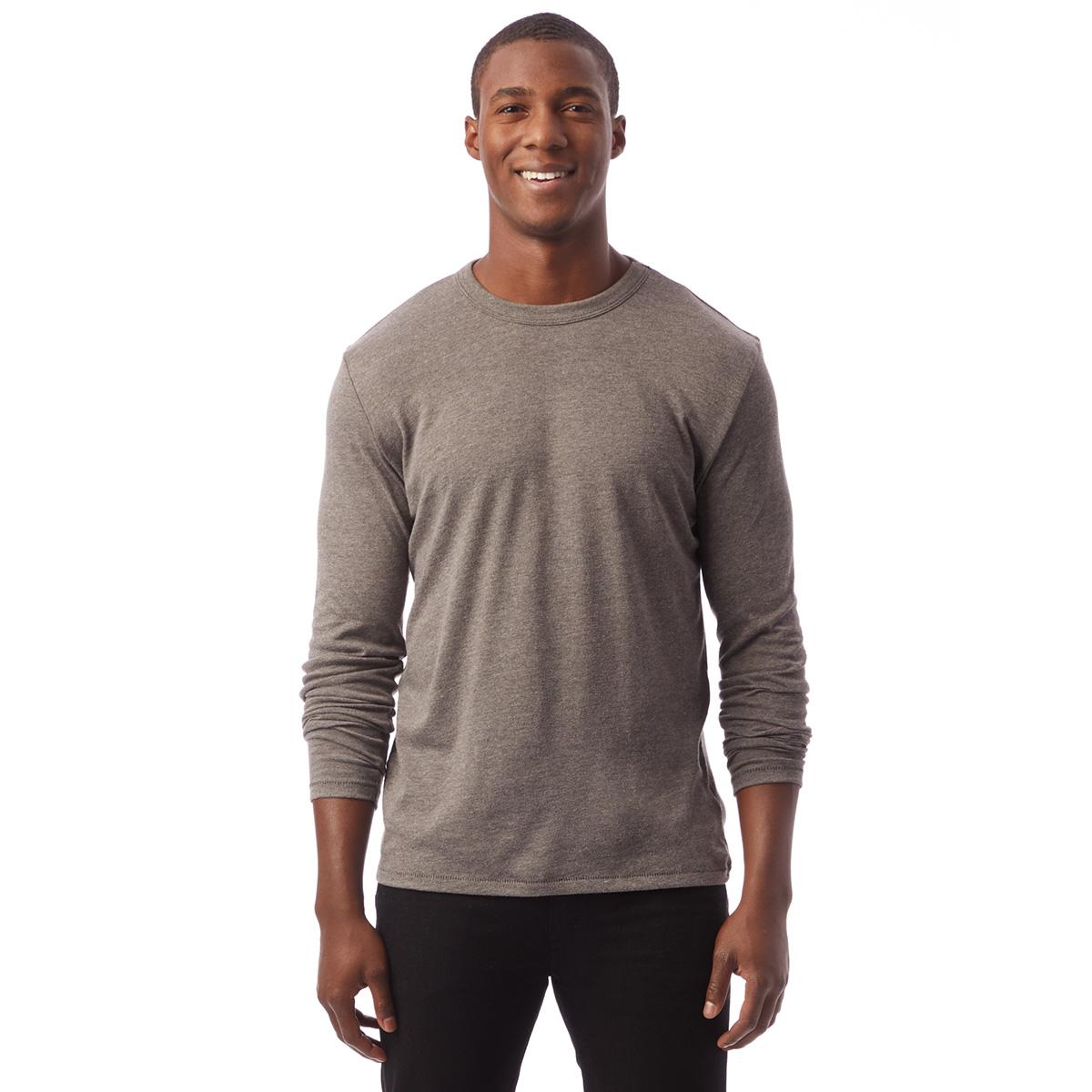 T-shirt gris charbon à manches longues Homme
