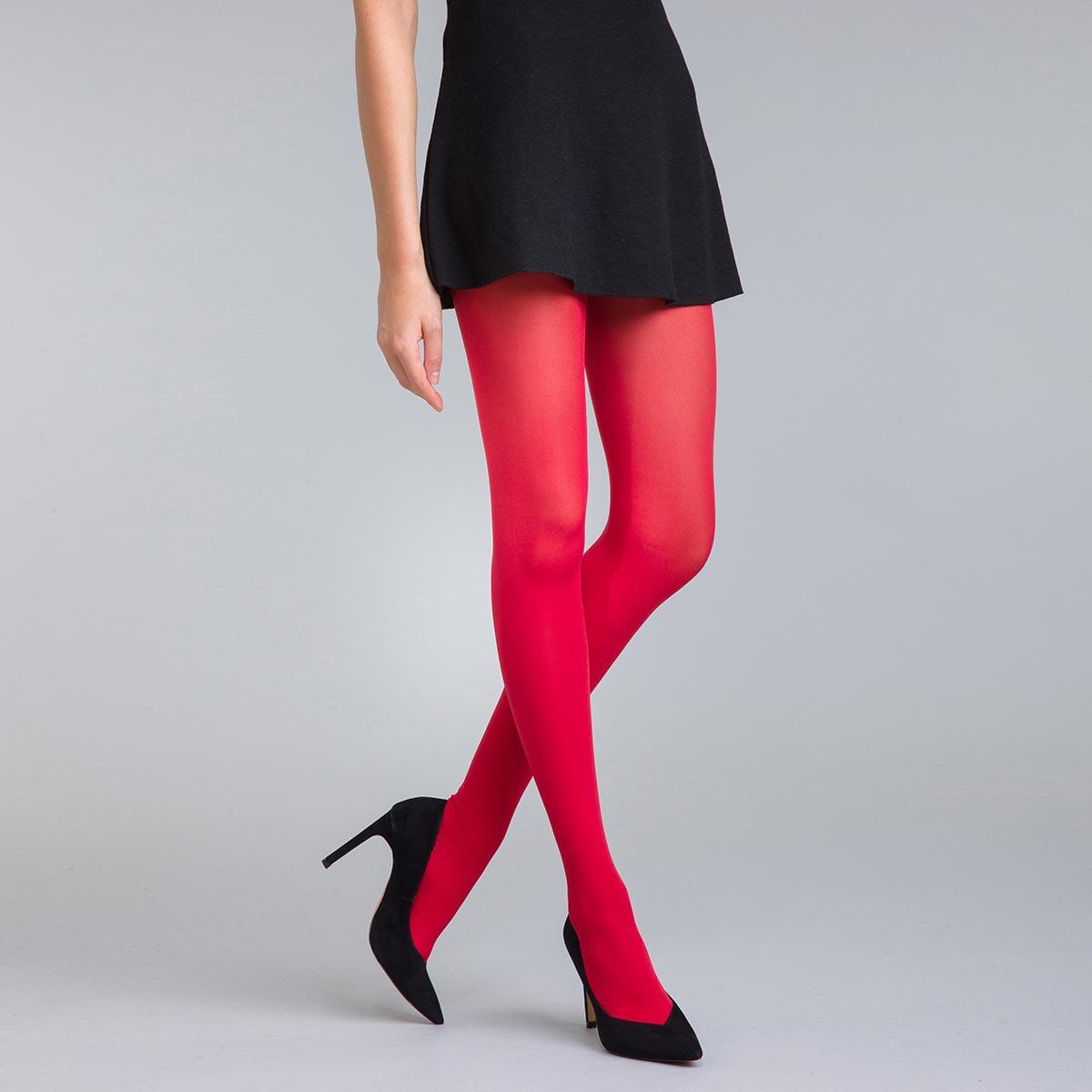 Collant opaque velouté rouge intense 50D Style