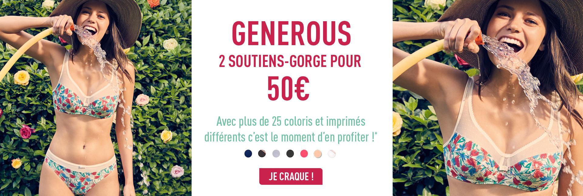 Generous - 2 soutiens-gorge pour 50€