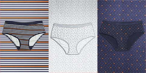 DIM, Culottes et bas : slips, boxers, hipsters, strings, tangas et lingerie sculptante.