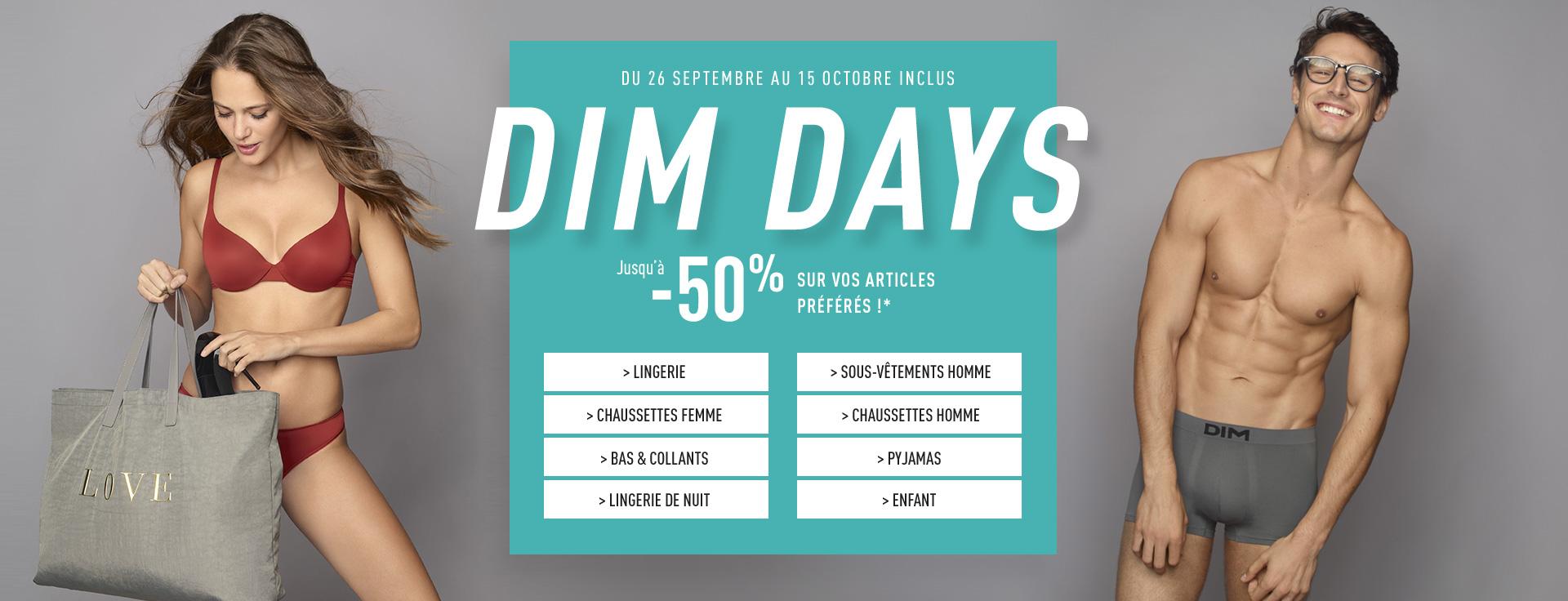 Dim Days - Jusqu'à -50% sur vos articles préférés !*