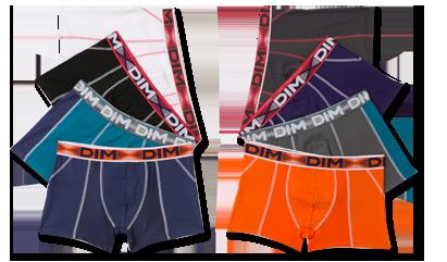 Découvrez les slips, boxers ou caleçons pour homme en lots sur dim.fr