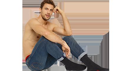 Découvrez toutes les chaussettes noires pour homme sur dim.fr
